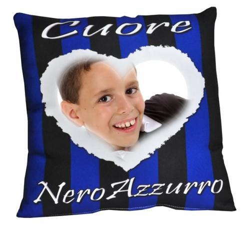 Cuscino Nerazzurro da personalizzare con foto