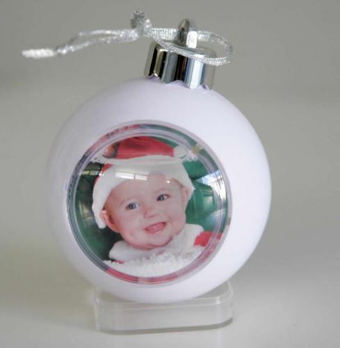 Pallina a led per albero di Natale da personalizzare con foto
