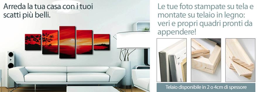 Stampa foto su tela canvas montata su telaio in legno for Arreda la tua casa online